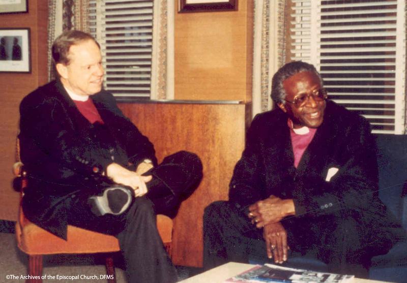 Allin Sits With Bishop Tutu