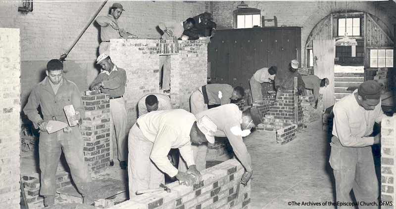 Bricklaying Class At St Paul's, 1958