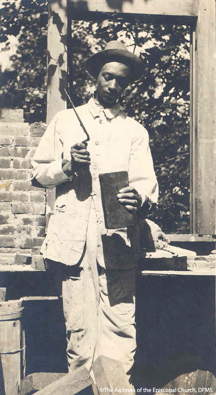 St. Augustine's Brick-Laying Student