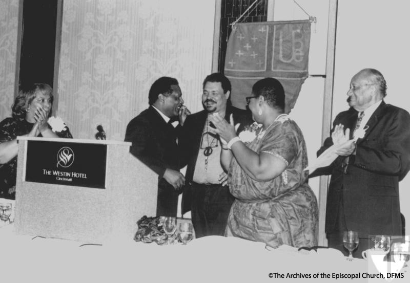 Rev. Rodman Honored By UBE, 1987