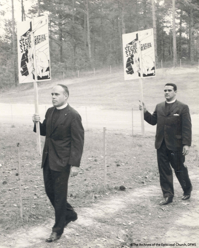 Stines And Boyd In Protest At The Lovett School, 1963