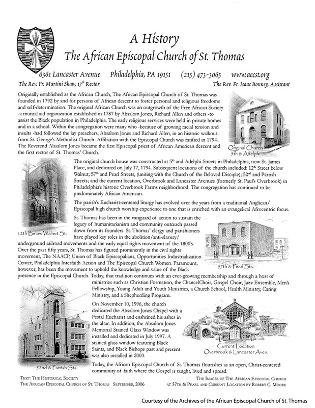 History of African Episcopal Church of St. Thomas