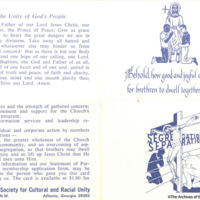 Pamphlet With Prayer For Unity Of All