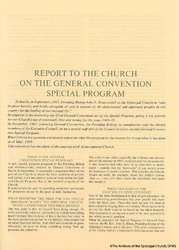Report To The Church On The GCSP