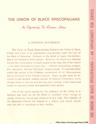 Union Of Black Episcopalians Position Statement